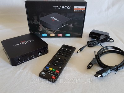 Приставка смарт MX PRO Q 4K TV BOX Internet TV Приставка смарт ТВ Android Smart TV Копия